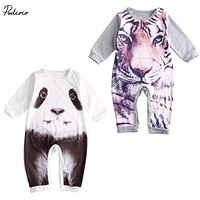 New Hot Newborn Kids Baby Boy Girl Warm Infant Animal tiger figure Romper Jumpsuit Clothes Outfit
