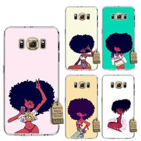 Natural hair beauty soft case for Samsung phones