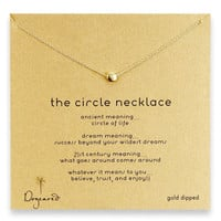 2017 Korean gold beans simple Circle Necklace Alloy clavicle short burst gift