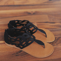 Black Cut Out Sandal