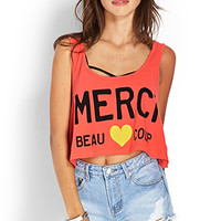 FOREVER 21 Merci Beau Coup Tank