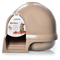Petmate Booda Dome Cleanstep Cat Box, Brushed Nickel