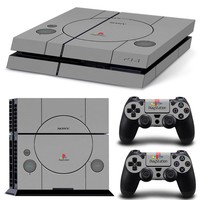 PS1 Retro Skin for Sony Playstation 4 and 2pc Controller Skins