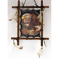 1 X Framed Indian EAGLES Picture Native American Art 9 x 11 (including frame) Reproduction