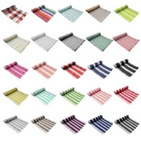 100% Cotton Ribbed Pattern Table Runner by IDC Homewares