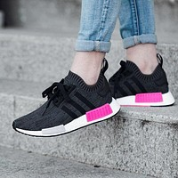 Adidas NMD R1 PK - ESSENTIAL PINK BB2364 Boost Sport Running Shoes Classic Casual Shoes Sneakers