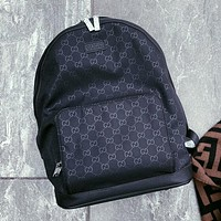 GUCCI Simple Retro Full Print Double G Letter Backpack Bag