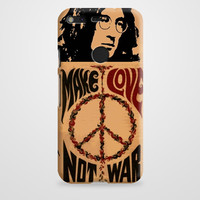 John Lennon Peace And Love Google Pixel Case | casefantasy