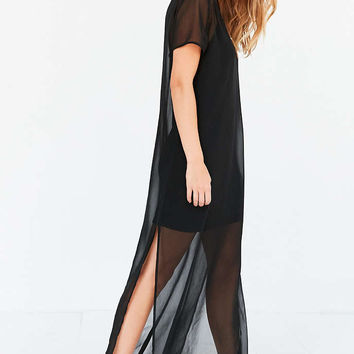 Silence + Noise Layered Mesh Maxi Slip Dress - Urban Outfitters