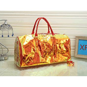 LV fashion casual men's and women's shopping bag hot seller with transparent printed gradient shoulder bag #3