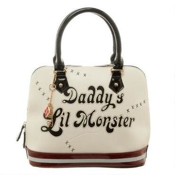 Suicide Squad Harley Quinn Daddy's Lil Monster Dome Bag  