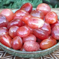 Carnelian Tumbled Gemstone . Medium Set of Two . Protection from Negative Energies, Peace, Healing, Courage, Past Life, Nature Workings