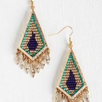 Statement The Answer is Zest Earrings by ModCloth