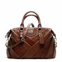 Coach Madison Diagonal Pleated Mixed Exotic Juliette