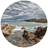 Rocky Beach Circle Wall Decal