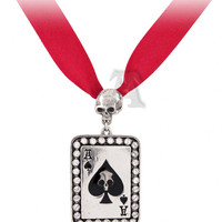 Alchemy of England Ace Of Spades Choker Necklace