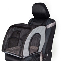 """K&H Pet Products Pet Travel Safety Carrier Small Gray 17"""" x 16"""" x 15"""""""