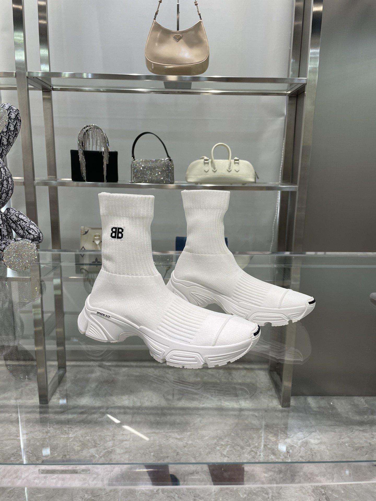Image of Balenciaga Sock Boots Woman Men Fashion Breathable Sneakers Running Shoes 0818