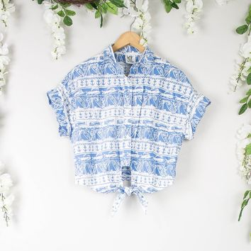 Vintage Nautical Hawaiian Blouse