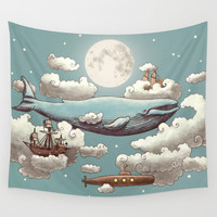 Ocean Meets Sky Wall Tapestry by Terry Fan