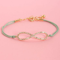 All I Want is Forever Mint Green Infinity Bracelet