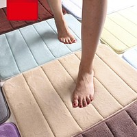 Coral Foam Soft Bathroom Non-Slip Back Rug