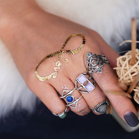Shiny Stylish New Arrival Gift Jewelry Accessory Bohemia Vintage Gemstone Ring [11006835791]