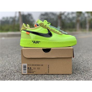 OFF WHITE x Nike Air Force 1 Volt   AO4606-700 Sport Running Shoes - Best Online Sale