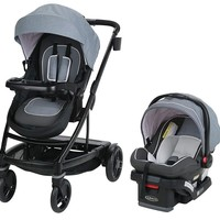 Graco Baby UNO2DUO Travel System Stroller w/ SnugLock 35 Infant Car Seat Hazel