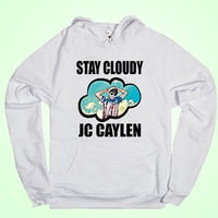 O2L logo,stay cloud, jc caylen  design for men hoodie, women hoodie, sweatshirt, Long sleeved white color