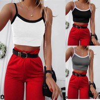 2018 Solid Color Fashion Sexy Sling Vest