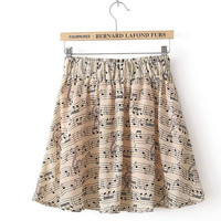 Walk in the Music Collection ice cream pink music note score summer skirt