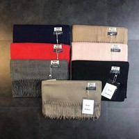 ONETOW Acne Studios' Tassels Solid color Scarf