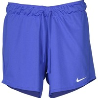 NIKE Women's 5'' Dry Attack Shorts Blue (X-Small)