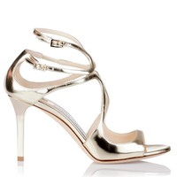 Ivette metallic gold sandal Jimmy Choo - Designer Shoes at ShopSavannahs.com