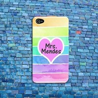Pink Heart Mrs Shawn Mendes Funny Case Cute iPod Cover iPhone Cool Rainbow Ombre