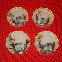 Vintage Coasters Butterfly Coasters Butterflies Dried Flowers Coaster Round Coasters Lucite Coasters Kitchen Decor Housewares 50s 60s Set