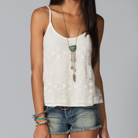 FULL TILT Mixed Media Crochet Womens Tank 211137151 | Tanks & Camis | Tillys.com
