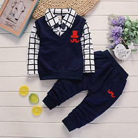 BibiCola spring autumn Baby Boy Clothes Set Children Clothing Sets Products Kids Clothes Baby Boys T-shirts+Pants 2PCS Tracksuit