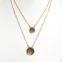 All Eggs In A Basket Necklace In Brown Crystal