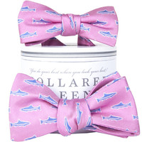 Trout Pink Father & Son Bow Tie Combo