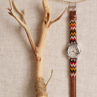 BW-15, Free U.S. shipping,Native American inspired hand-beaded watch.brown,leather,handmade,hippie,boho,hipster