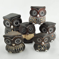 Fancy Carved Owl Sulpture -- Mexicali Blues