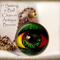 Eye See Mary Jane, Marijuana Image Necklace