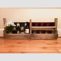 Americana Upcycled Wood Palette Wine Rack - American Flag Themed Home Decor - 4th of July Holiday Decor