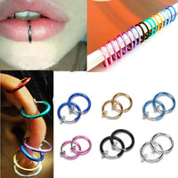 Hot Clip on Boby Nose Lip Ear Fake Piercing Rings Stud