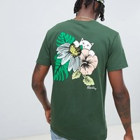RIPNDIP tie tropicalia t-shirt with back print in green at asos.com