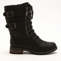 Double Side Buckle Boots