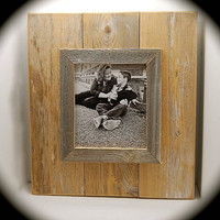 "Reclaimed Wood Picture Frame Wall Art - Handmade for 8x 10"" Photo  Comes ready to hang and includes wall hardware!!"