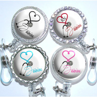 A053 - Heart Stethoscope Occupation Badge Reel